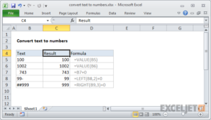 How to Convert Text to a Number in Excel