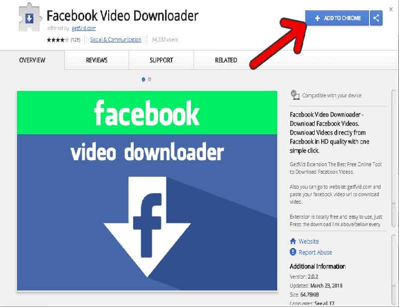 Facebook video downloader chrome extensions