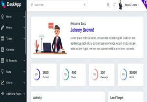 DeskApp Admin is a free to use Bootstrap 4 admin template