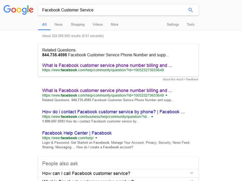 How do I contact Facebook by phone