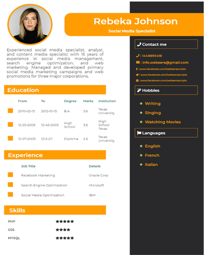 How to make a resume for first job high school student